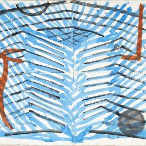Clivia, 2005, 150x210cm, aquarel op papier