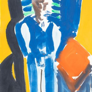 Zelfportret, c. 2000, 105x70cm, aquarel op papier