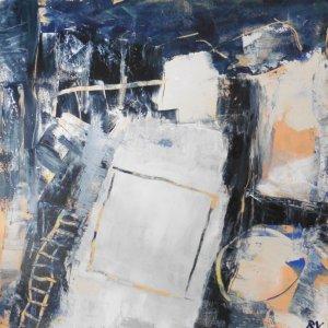 Winternacht, 2020, 50x50cm, acryl op doek