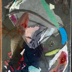 Bas - Iphone, 2020, 76 x 52, model painting on ricepaper, vernis graveur, acrylic paint