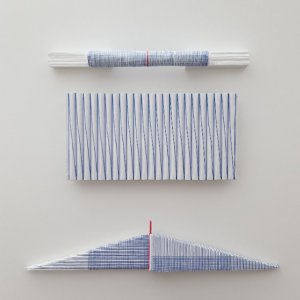 Z.T. , karton, gesso, gouache, textiel, ( 32x29 cm ) 2019