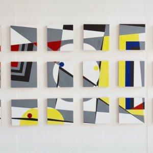 '24X24X24' / acryl op 24 panelen
