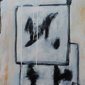 Retrogambiet, 2019, 50x70 cm, acryl op doek