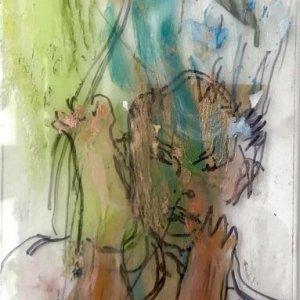 Nathan, 2020, 46 x 19,5, marker, mixed media on/behind perspex