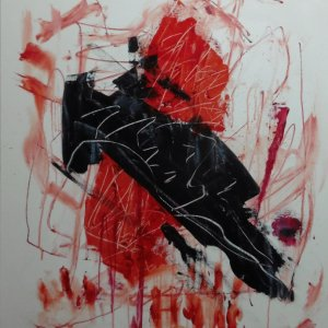 Sign, 2015, 90x70cm, acryl op doek