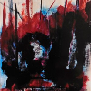 Het Offer, 2005, 100x70cm, acryl op papier