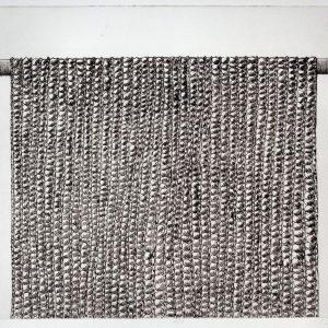 Aan de stok, lijnets, 30 x 40 cm 2001