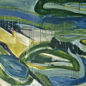 'Abstracte Duinen', 1990, 125x160cm, acryl op linnen