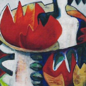 Verschuivend Paradijs (2004) Acryl/linnen 80 x 100 cm
