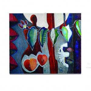 Aarde in balans (2004) Acryl/linnen 100 x 120 cm