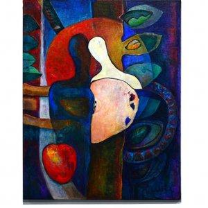 Asielzoekers (2003) Acryl/linnen 100 x 80 cm