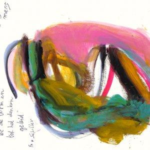 'Door de Schoonheid...', 2007, 55x75cm, gouache op papier
