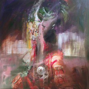 Baroque02, 2018, Olieverf schilderij, 80x80cm