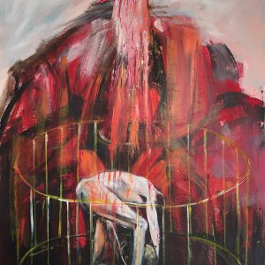 Crucifixion, 2019, Olieverf op papier, 100x140cm