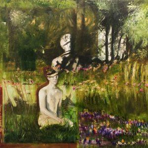 De Ontmoeting, 2019, Olieverf schilderij, 195x140cm
