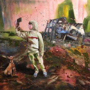 Footprint, 2018, Olieverf schilderij, 160x150cm