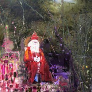 Leonardo as Sint Nicolaas, 2019, Olieverf schilderij,140x130cm