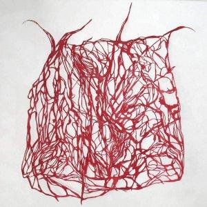 Groei-.-Papiersnede-pigment-en-waterglas-op-papier.-100-x120-cm.2008
