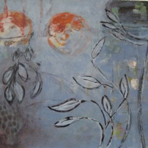 Onder water, 2009, acryl op papier, 50 X 65