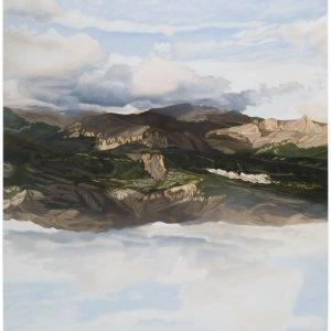 Hemel en aarde, olieverf op doek, 200 x 180