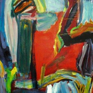 'Het Toverbos', 1993, 160x125cm, acryl op linnen