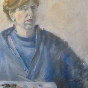 Zelfportret Olieverf op doek 45-70 cm