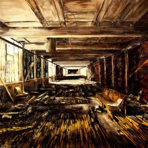 Interior (5), 2013, olieverf, 140 x 220 cm.