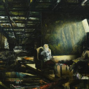 The conversation, 2019, olieverf, 140 x 200 cm.