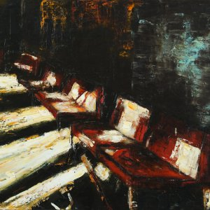 Waiting room (5), 2019, oliverf, 60 x 80 cm.