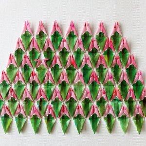 Flowerfield, 2018 Zeildoek gevouwen, 110 x 90 cm