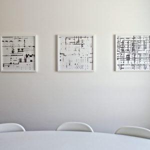 Gerda Kruimer-Simulacra-3 tekeningen-50x50cm-2014