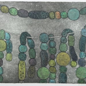 Blauwwier (bacterie), 1977, Kleurenets op papier, 33 x 44 cm