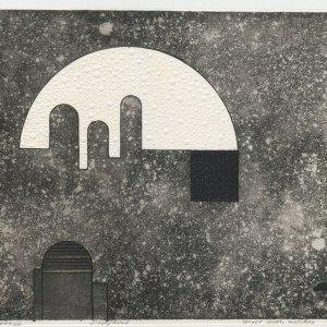 Israël Witte Moskee, 1965, Ets-aquatint op papier, 29,2 x 39 cm