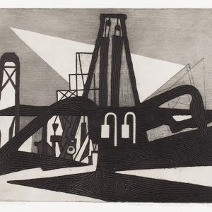 Zandzuiger Vrouwenpolder, 1959, Ets-aquatint op papier, 32,5 x 40,5 cm