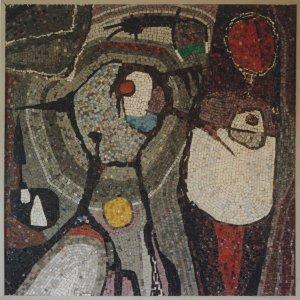 Zonder titel, 1956, Mozaïek op hout, 120 x 120 cm