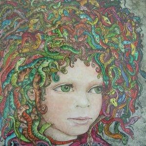 De kleine medusa, 1986, gouache op papier, 29 x 27 cm