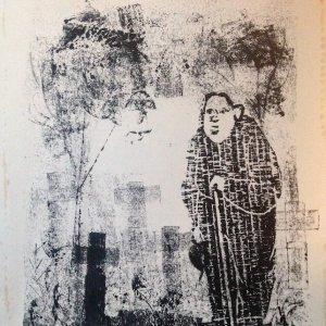 Het grafje, 1977?, gemengde druktechniek, 32,5 x 22 cm