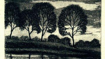 Leefsma-Nagtegaal_Rini-Landschap-met-bomen-1983