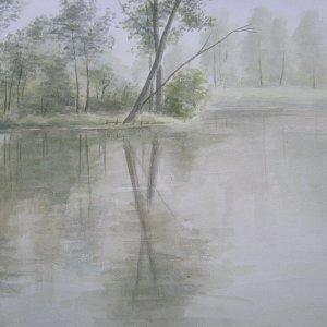 't Weegje, 1982, aquarel op papier, 32,5 x 48 cm