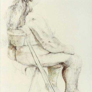 Marie  (1985)  Gem.techn./papier 100 x 70 cm