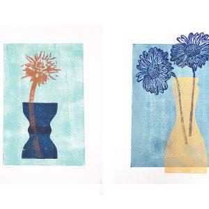 MaxFloor_vases&flowers serie lino, 2017
