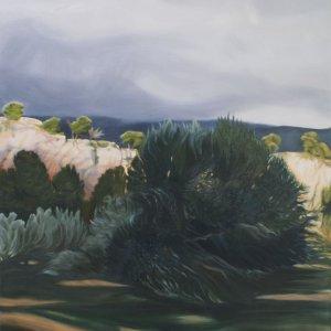 Naderend onweer, olieverf op doek, 115 x 100