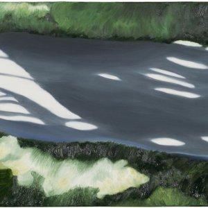 Pad 2, olieverf op doek, 40 x 80