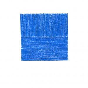 Binary square blue,  2019,  pencil on paper, 27x24cm