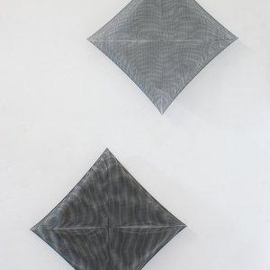 Ogentroost,2019,wandobjecten, 2(55x55x6cm)