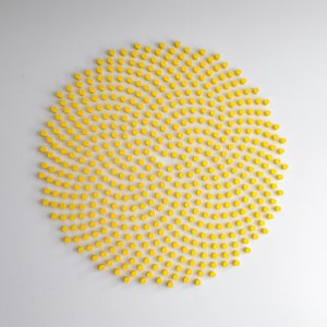 In de tuin van Fibonacci,2015, wandobject opdracht,160x160x4cm