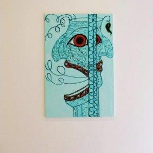 The ugly rainforest paintings , 2014, olieverf op canvas, 2 maal 85cm x 150cm en 1 maal 85cm x 120cm 5