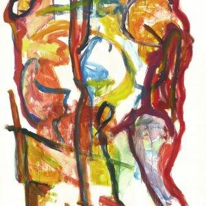 'Staan in de Stad', 2009, 200x150cm, acryl op kunstlinnen