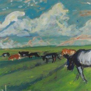 1979, Koeien aan de Zeedijk, 1979, gouache op papier, 50 x 70cm