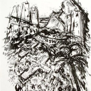 Rio de Sangre - ninos vagabundos, 1992, zwart-witlitho, 44 x 32cm